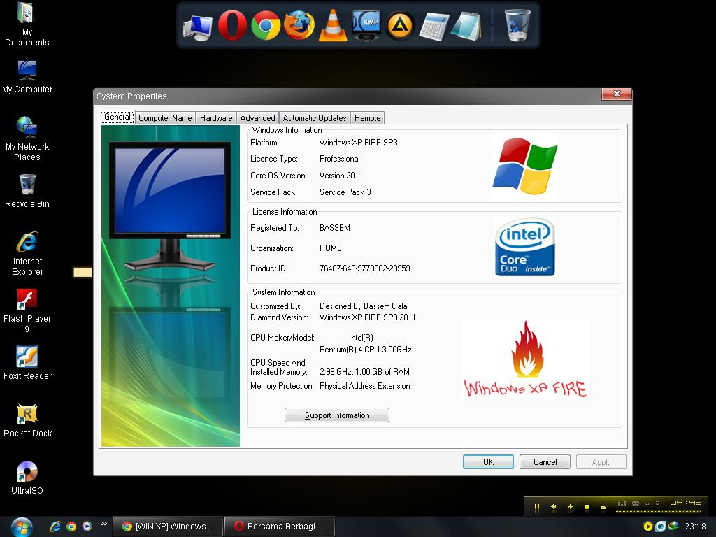 Win 7 Fire Screenshot