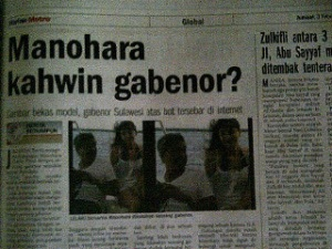 Manohara Kahwin Gabenor?