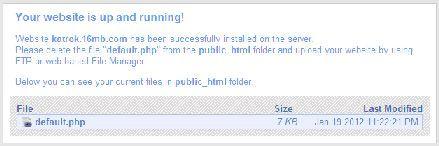 cara membuat website idhostinger-site-running