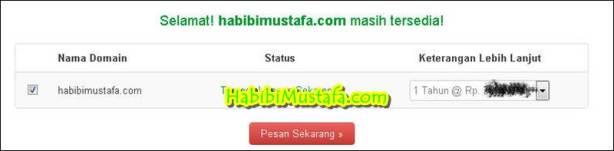 Cek Domain Tersedia