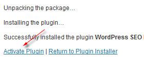 aktifkan plugin wordpress
